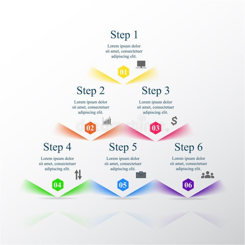 Infographic mall för vektor stock illustrationer