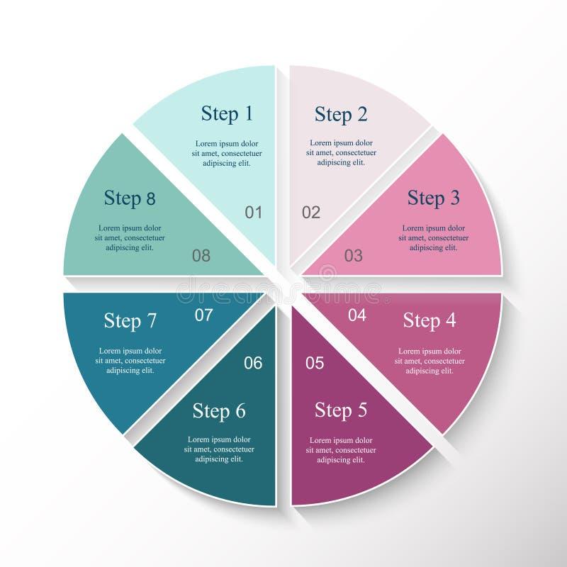 Infographic mall för vektor royaltyfri illustrationer