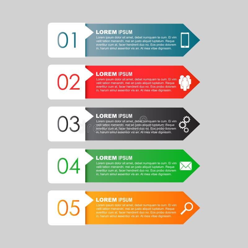 Infographic mallar för affär Plan vektorillustrati för färg vektor illustrationer