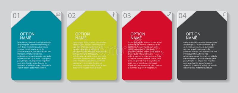 Infographic mallar för affärsvektor stock illustrationer