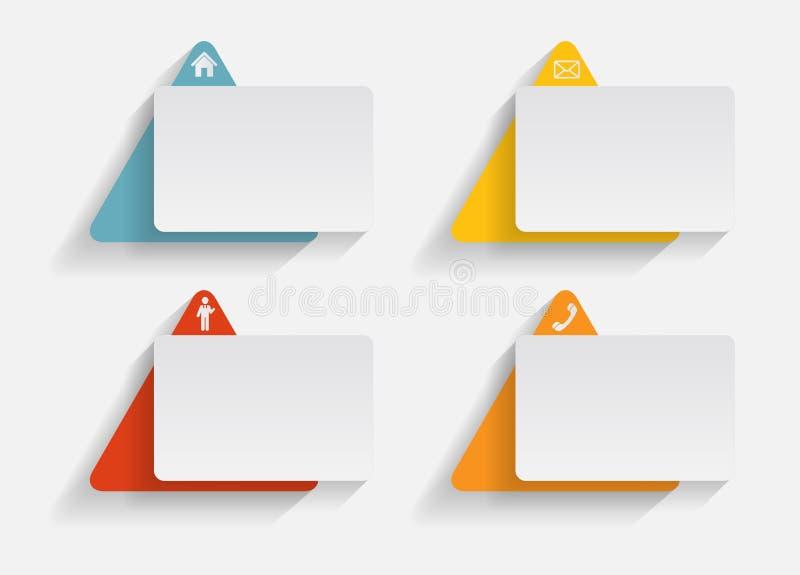 Infographic mallar för affärsvektorillustration. royaltyfri illustrationer