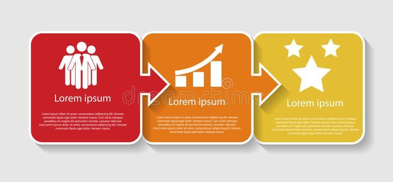 Infographic mallar för affärsvektorillustration vektor illustrationer