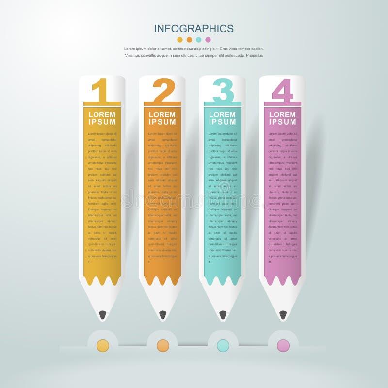 Infographic malldesign för utbildning royaltyfri illustrationer