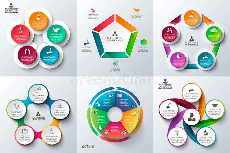 Infographic malluppsättning för affär