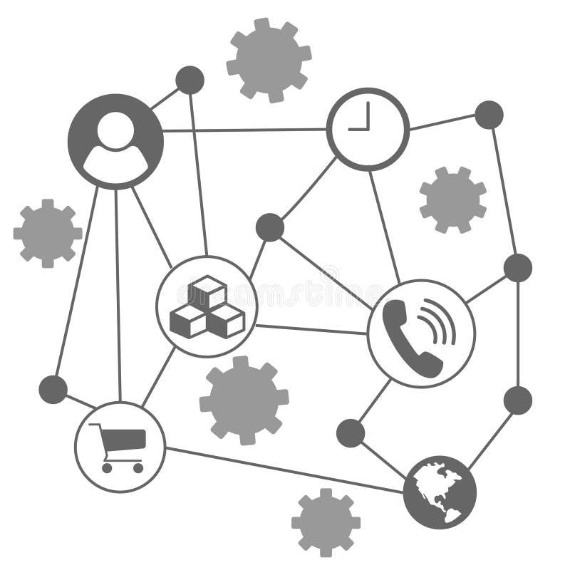 Infographic mapa dla niektóre biznesowego białego tła ilustracji