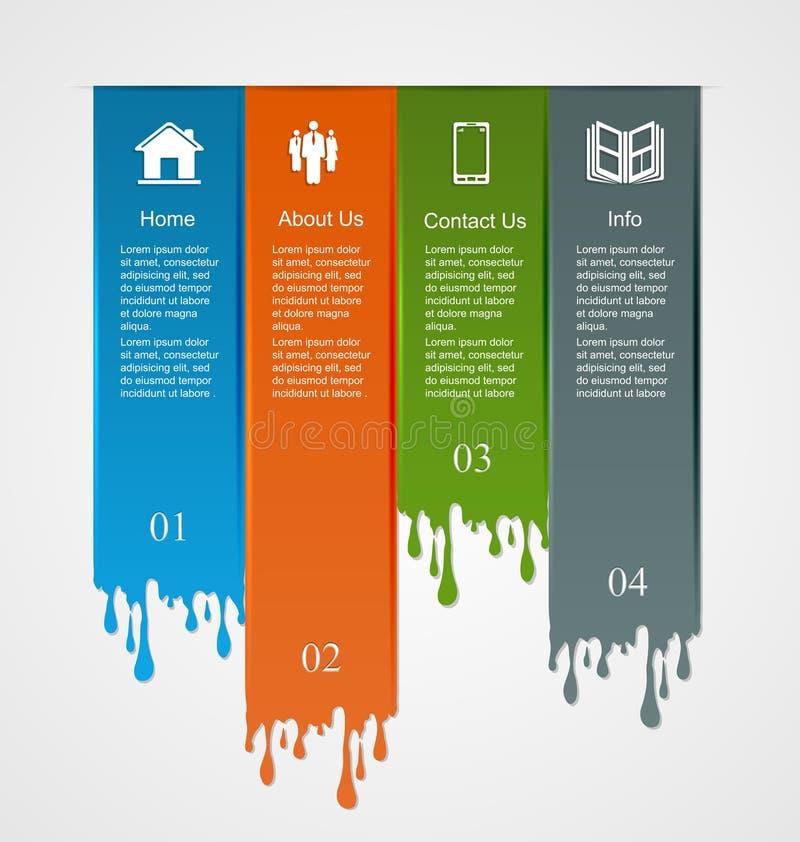 Infographic met dalingen vector illustratie