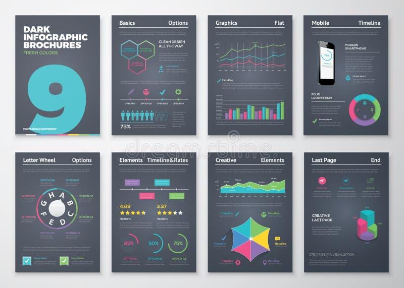 Infographic met kleurrijke bedrijfs vectorelementen wordt geplaatst dat stock fotografie