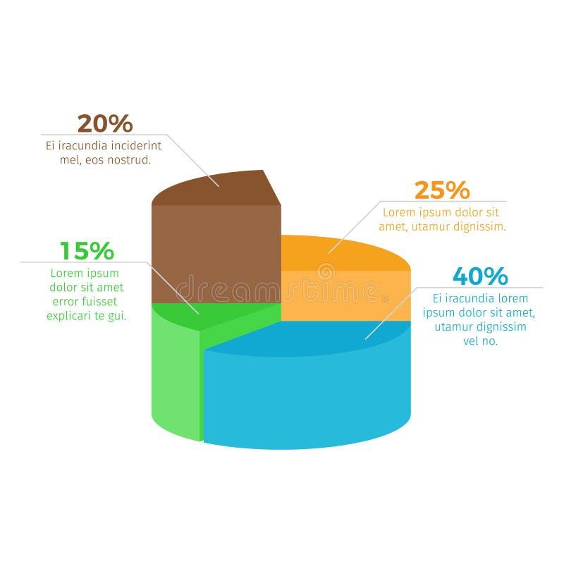 Infographic met Percentage op Vectorillustratie royalty-vrije illustratie