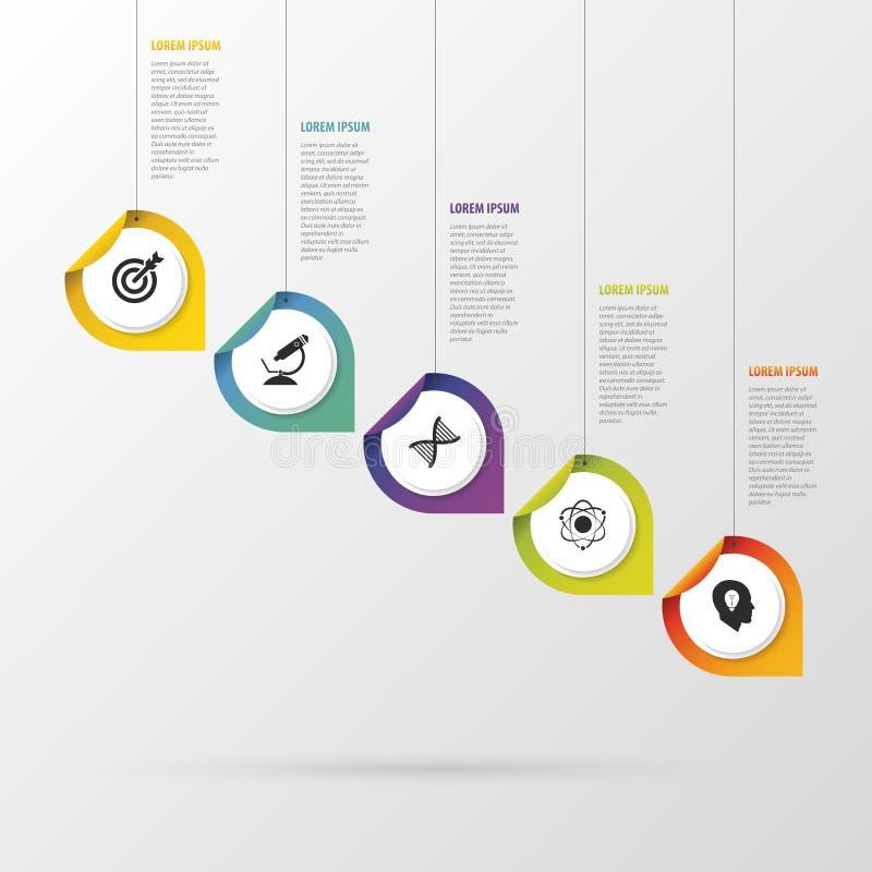 Infographic met wijzers op de grijze achtergrond Vector illustratie vector illustratie