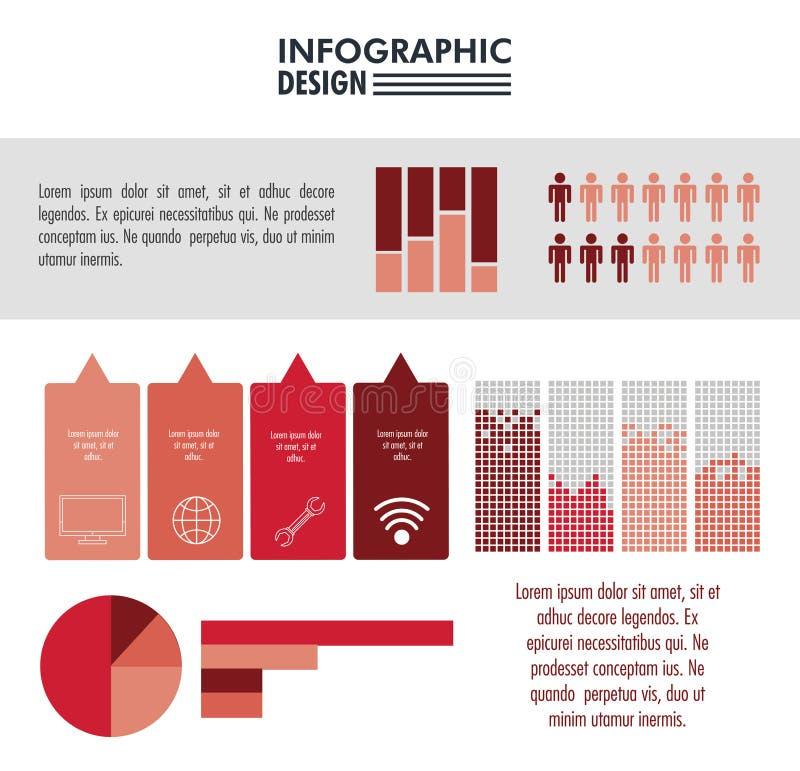 Infographic mit Statistikdesign stock abbildung