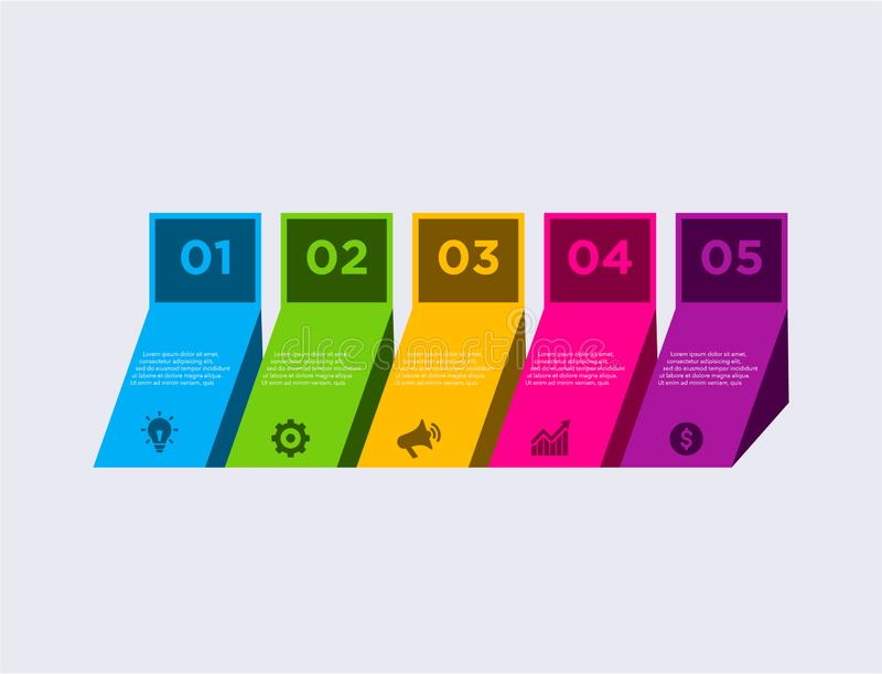 Infographic moderno del negocio Plantilla del dise?o de la cronolog?a del infographics del vector sistema del paso Ilustraci?n de ilustración del vector