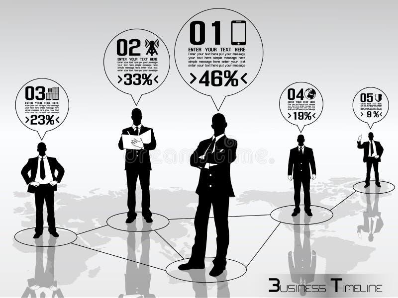 Infographic moderno do homem de negócio ilustração royalty free
