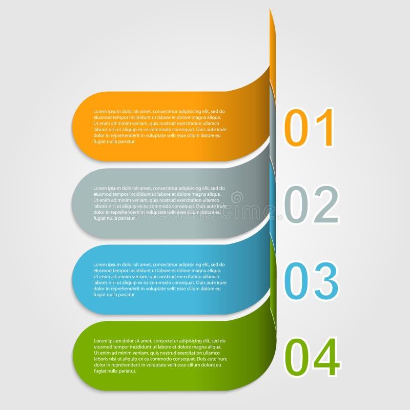Infographic moderno. Elementos del diseño ilustración del vector