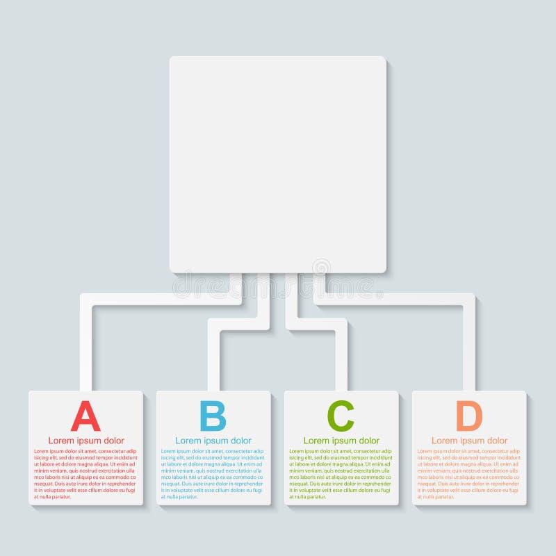 Infographic moderno. Elementos del diseño. ilustración del vector