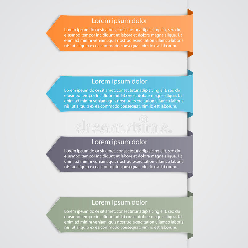 Infographic moderno Elementos del diseño libre illustration