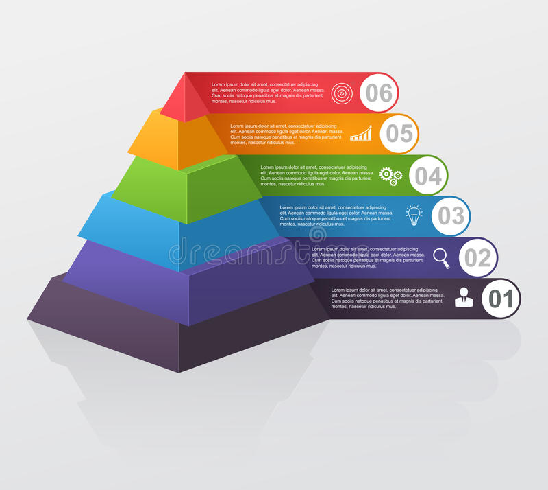 Infographic multilevel pyramid. royalty free illustration