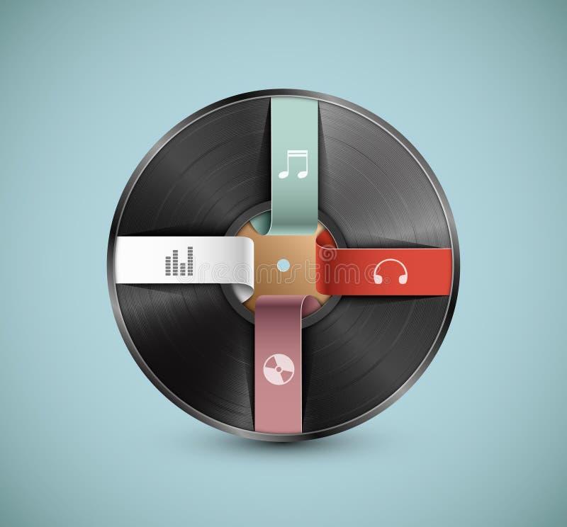 Infographic musical stock de ilustración