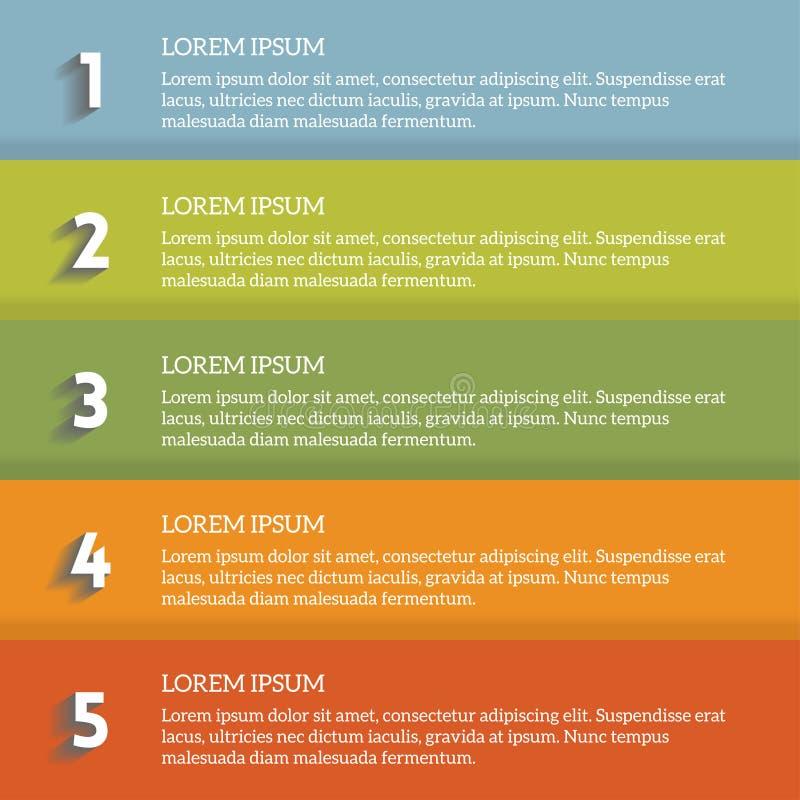 Infographic numrerad lista för vektor royaltyfri illustrationer