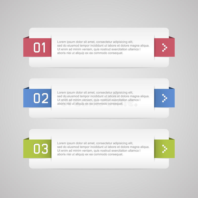Download Infographic options banner stock vector. Image of color - 34876023