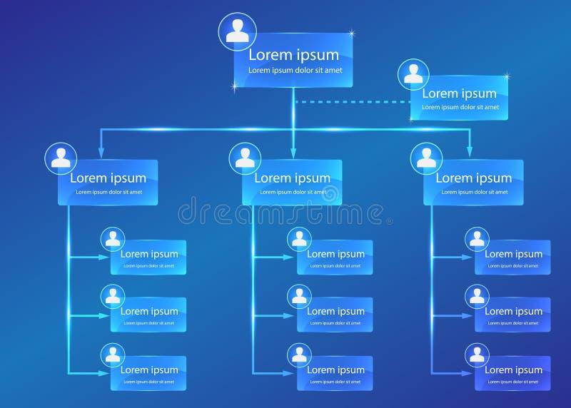 Infographic organisatoriskt diagram vektor illustrationer