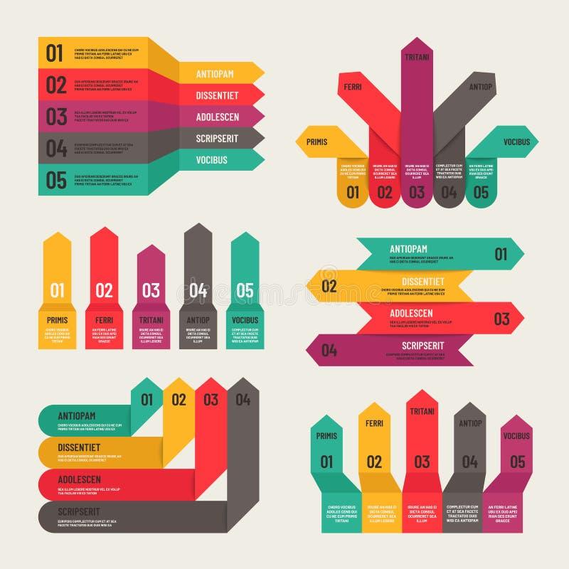 Infographic origami Workfloworienteringsdiagram, nummeralternativ, finansiella rapporter för rengöringsduk Begrepp för Infographi royaltyfri illustrationer