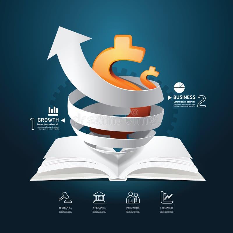 Infographic papieru wykresu książki diagram kreatywnie. royalty ilustracja