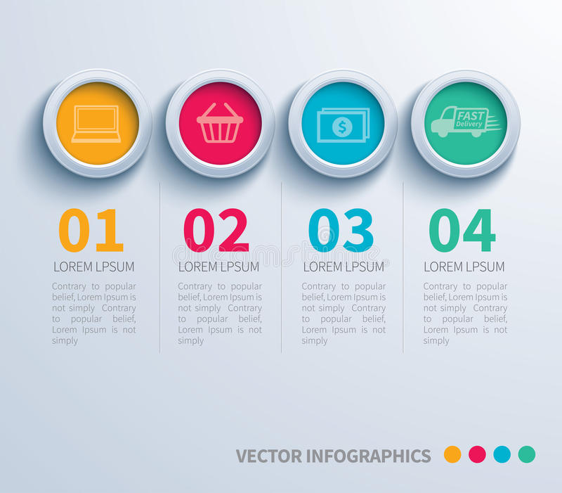 Infographic pappers- cirkel royaltyfri illustrationer