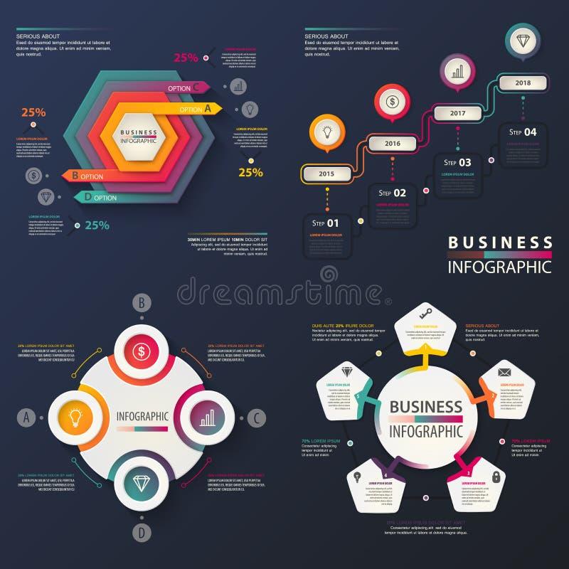 Infographic para o negócio ou a gestão informação ilustração royalty free