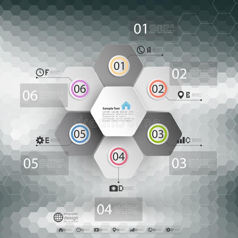 Infographic per l'affare, fondo geometrico illustrazione vettoriale