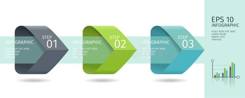 Download Infographic-Pfeile Mit 3 Steigern Wahlen Und Glaselemente Vektorschablone In Der Flachen Designart Vektor Abbildung - Illustration von darstellung, flach: 90229030