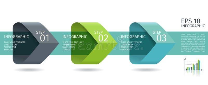 Download Infographic-Pfeile Mit 3 Steigern Wahlen Und Glaselemente Vektorschablone In Der Flachen Designart Vektor Abbildung - Illustration von farbe, plan: 90229180