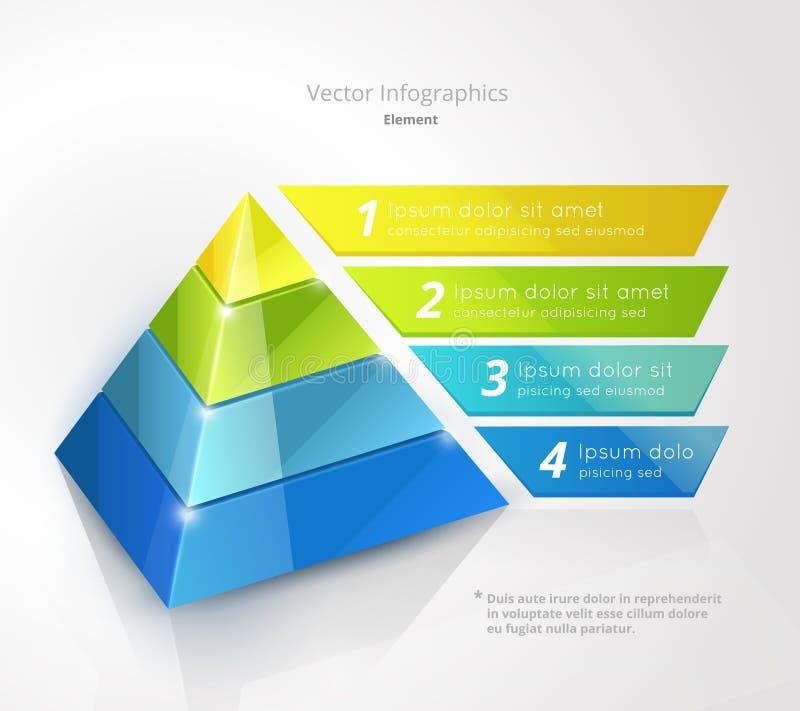 Infographic piramide stock illustratie