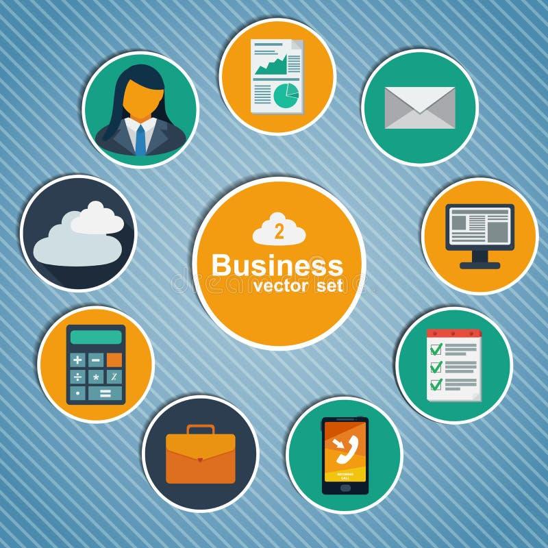 Infographic plan design för affär. stock illustrationer