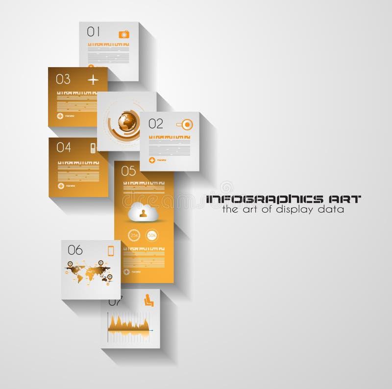 Infographic Plan moderner Art UI flacher für Datenanzeige lizenzfreie abbildung