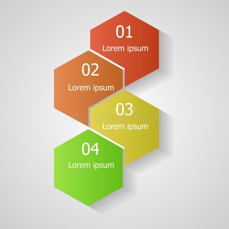 Infographic, plantilla para el diseño ilustración del vector