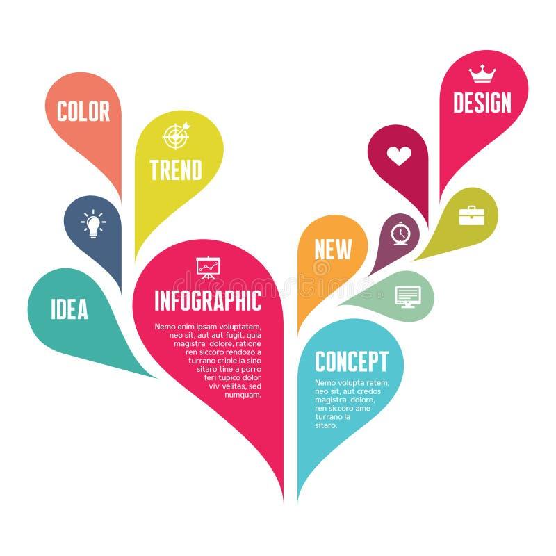 Infographic pojęcie Kreatywnie Wektorowa ilustracja - Abstrakcjonistyczny tło - ilustracja wektor