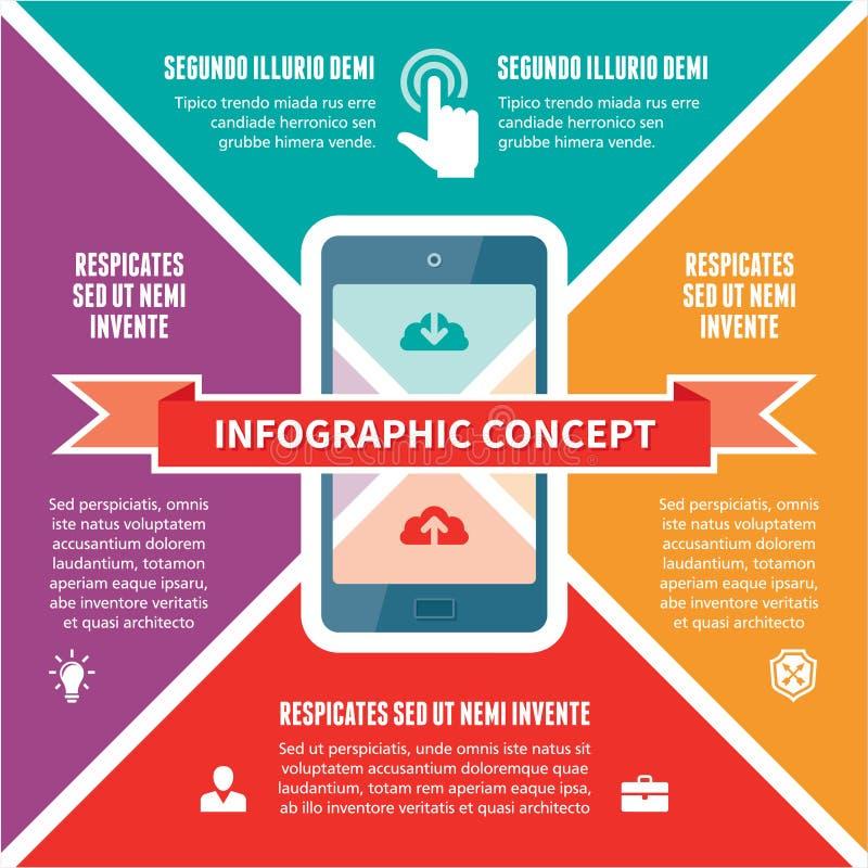 Infographic pojęcie - Wektorowy plan z ikonami