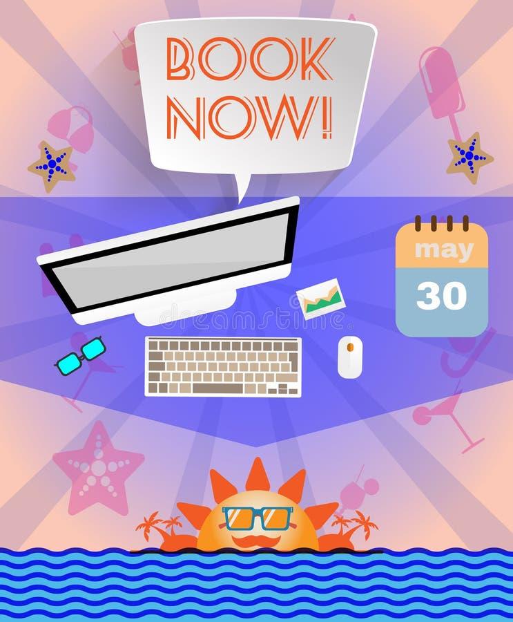 Infographic porpora di ora legale, con il libro ora mandano un sms a, le icone e gli accessori di viaggio royalty illustrazione gratis