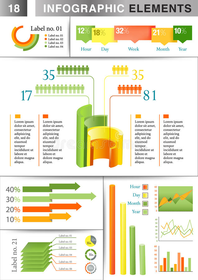 INFOGRAPHIC presentation template graph pie