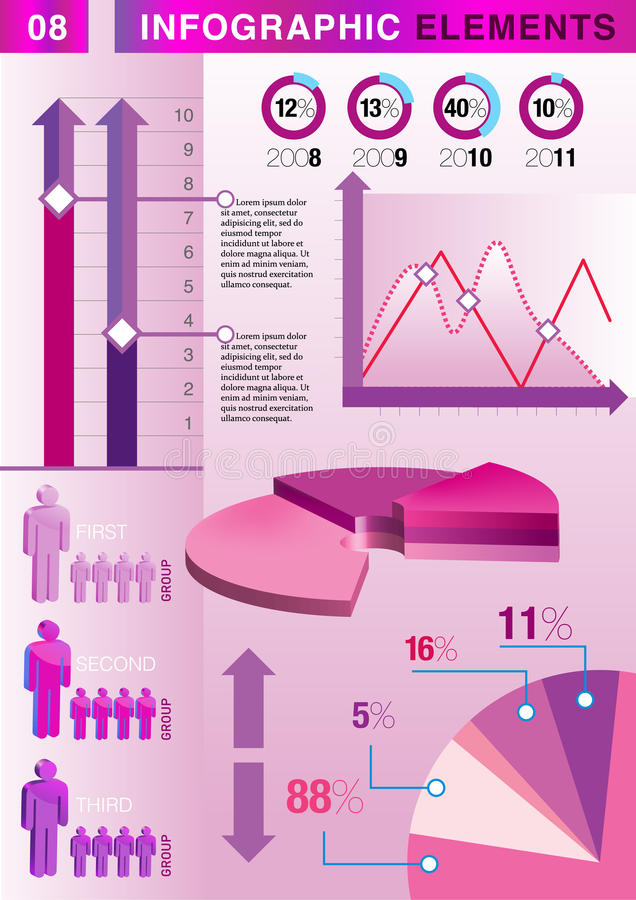 Download INFOGRAPHIC Presentation Template Graph Pie Stock Vector - Illustration of growth, economics: 27159256