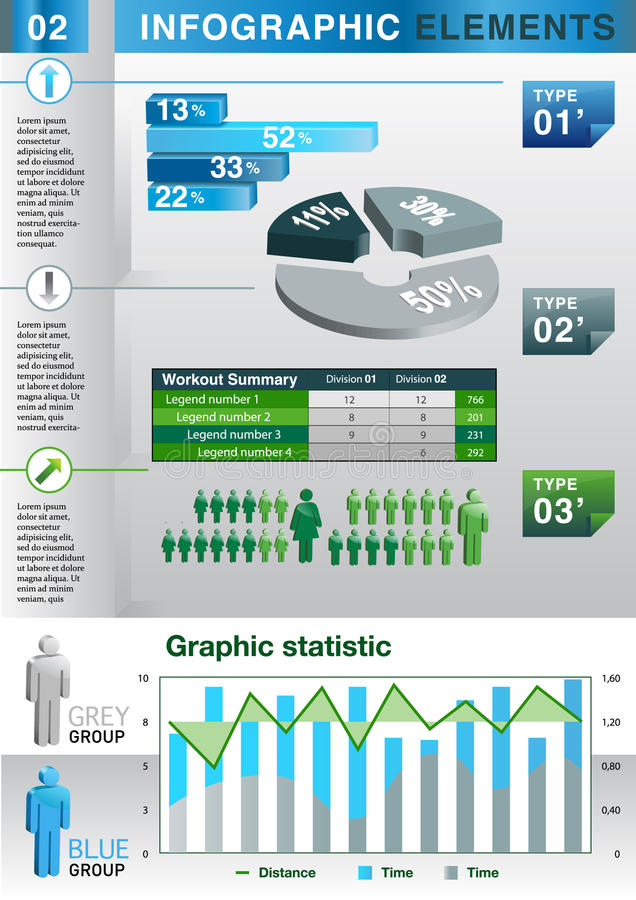 Download INFOGRAPHIC Presentation Template Graph Pie Stock Vector - Image: 27159267