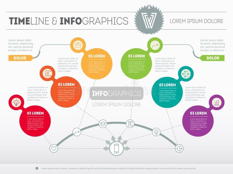 Infographic presentationsglidbanamall eller affär Modern vect stock illustrationer