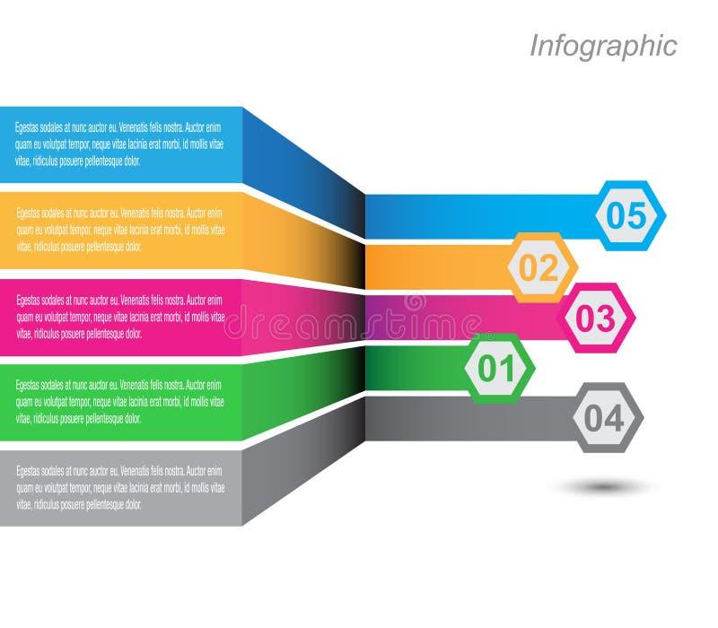 Infographic projekt dla produktu rankingu royalty ilustracja