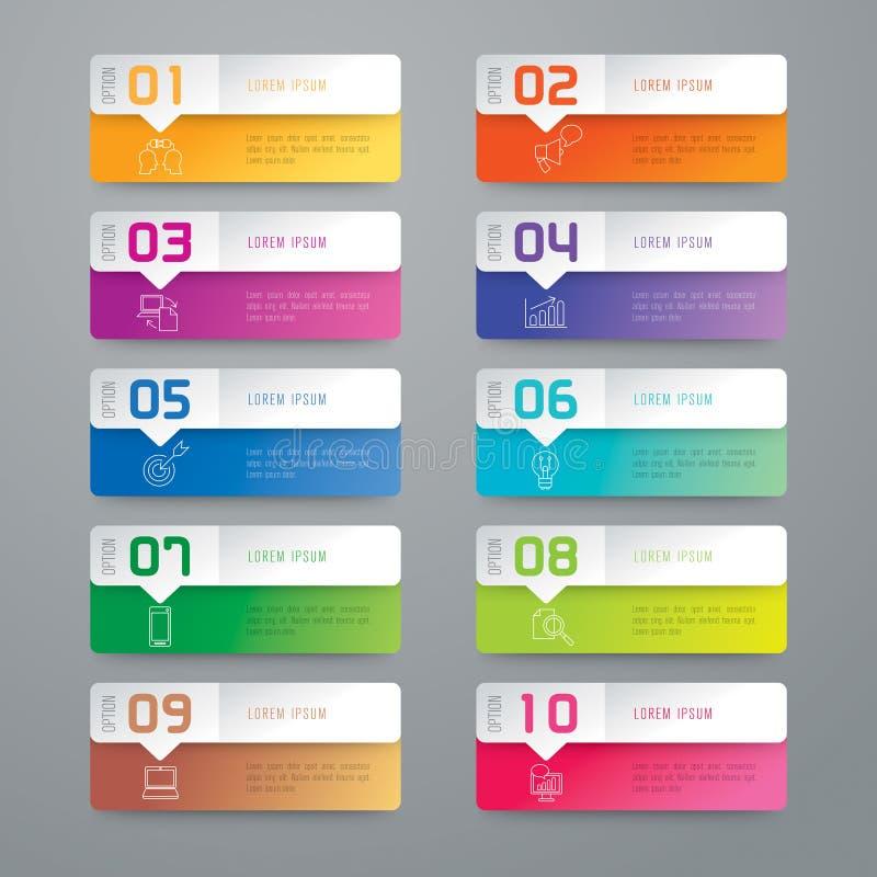 Infographic projekt i marketingowe ikony ilustracji