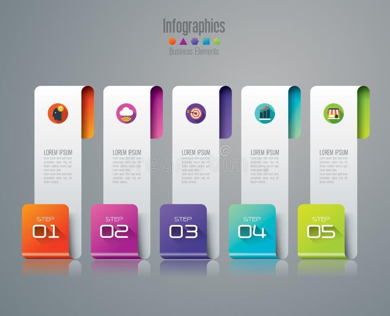 Infographic projekt i marketingowe ikony royalty ilustracja