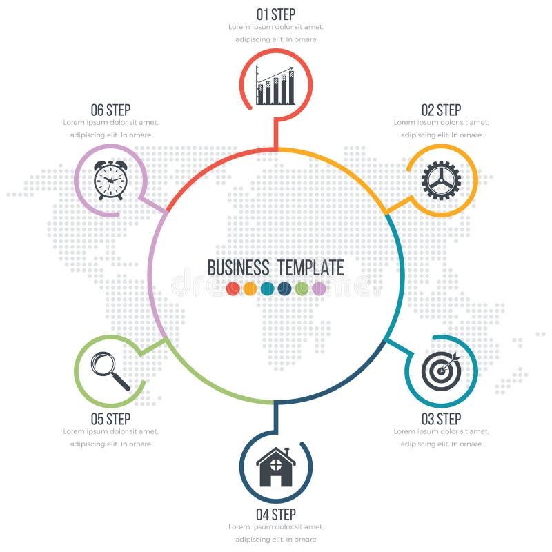 Infographic projekt z barwionym ilustracja wektor