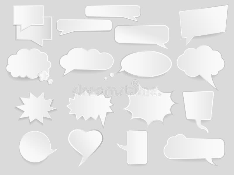 Infographic projekt z komunikacyjnymi chmurami ilustracji