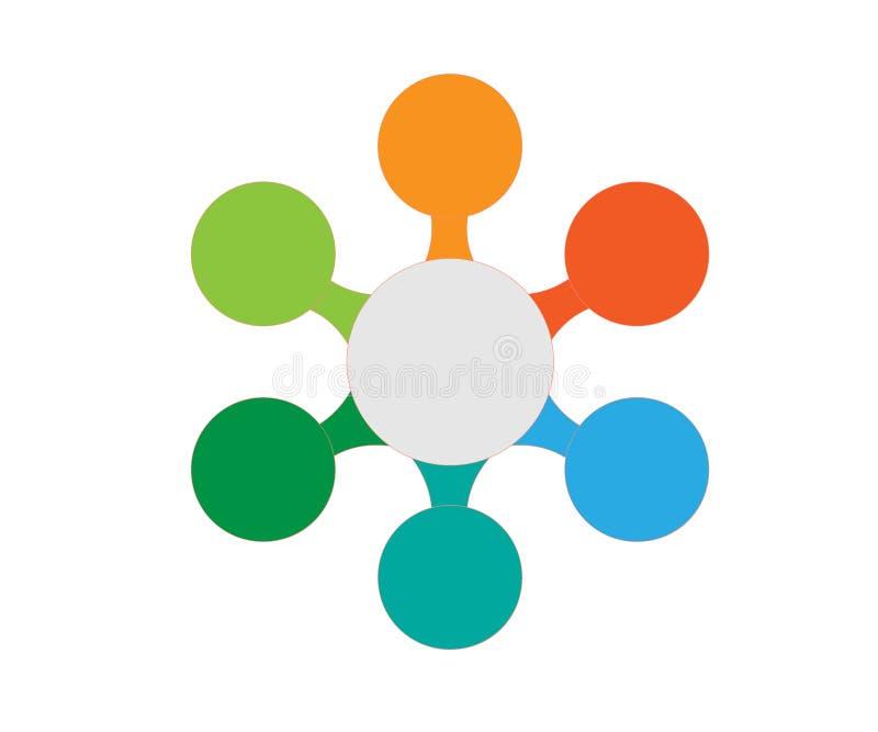 Infographic projekta elementy dla twój biznesowych dane z częściami, krokami, linia czasu lub procesami, okręgu round pojęcie Wek royalty ilustracja