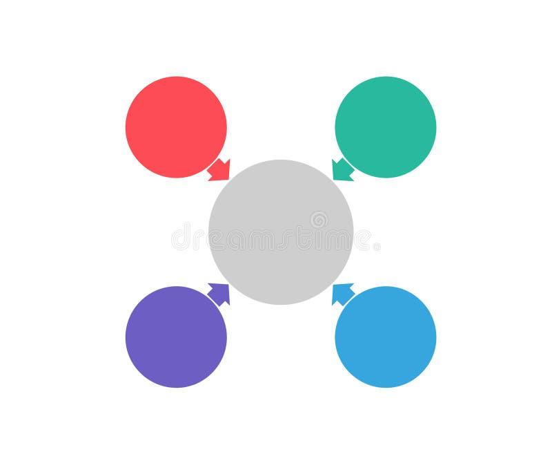 Infographic projekta elementy dla twój biznesowych dane z częściami, krokami, linia czasu lub procesami, okręgu round pojęcie Wek ilustracja wektor