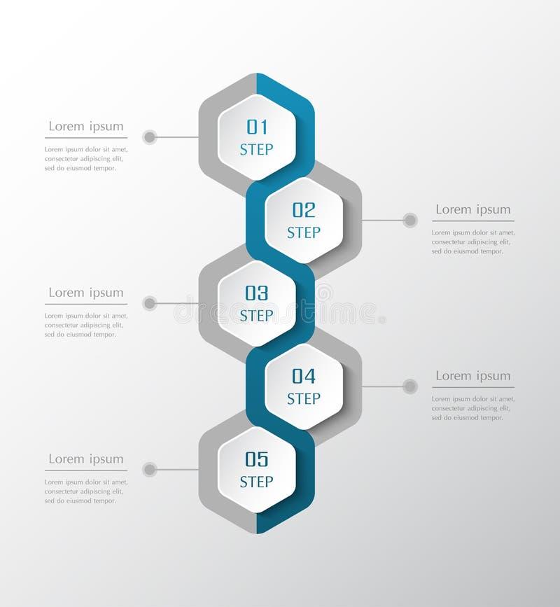 Infographic projekta elementy dla Twój biznesu ilustracja wektor